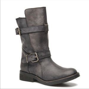 Steve Madden Caveat Distressed Moto Leather Boots